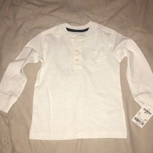 Toddler off-white long sleeved top